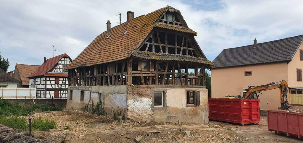 Restauration d'une maison alsacienne historique